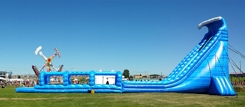 100' Long Blue Crush Xtreme Water Slide