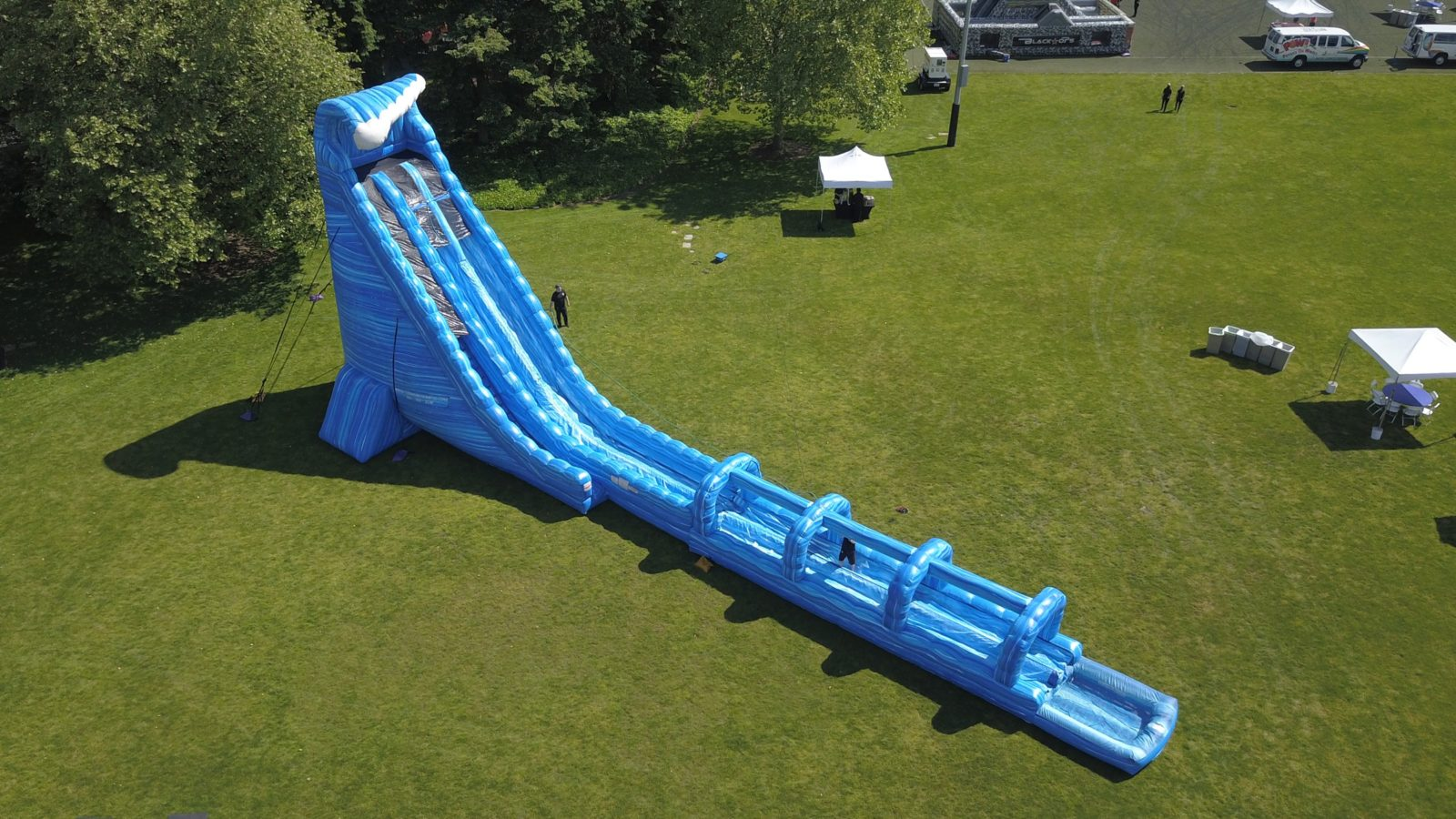 100 Ft Long Blue Crush Water Slide Rental National Event