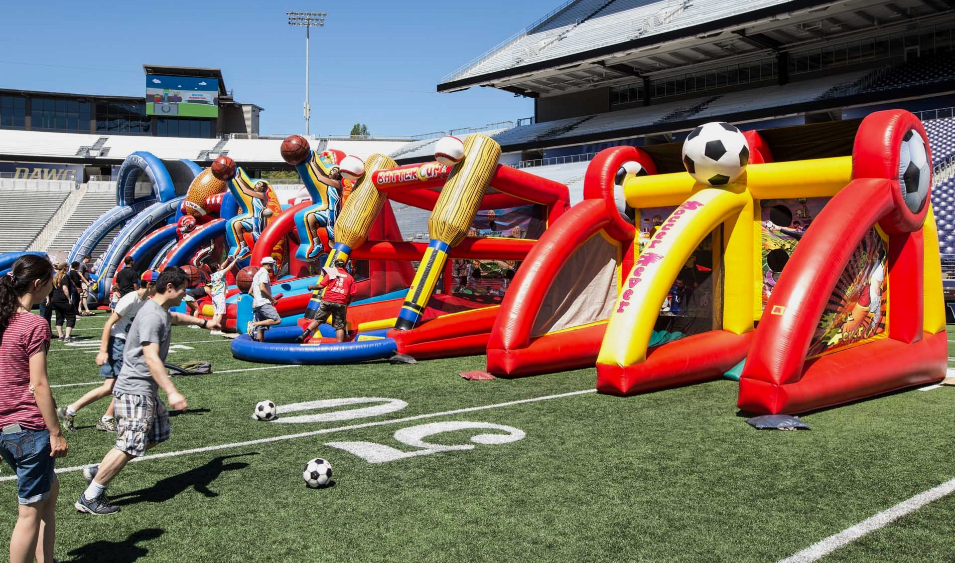 Soccer Ball Goal Kick Inflatable Game Rental National