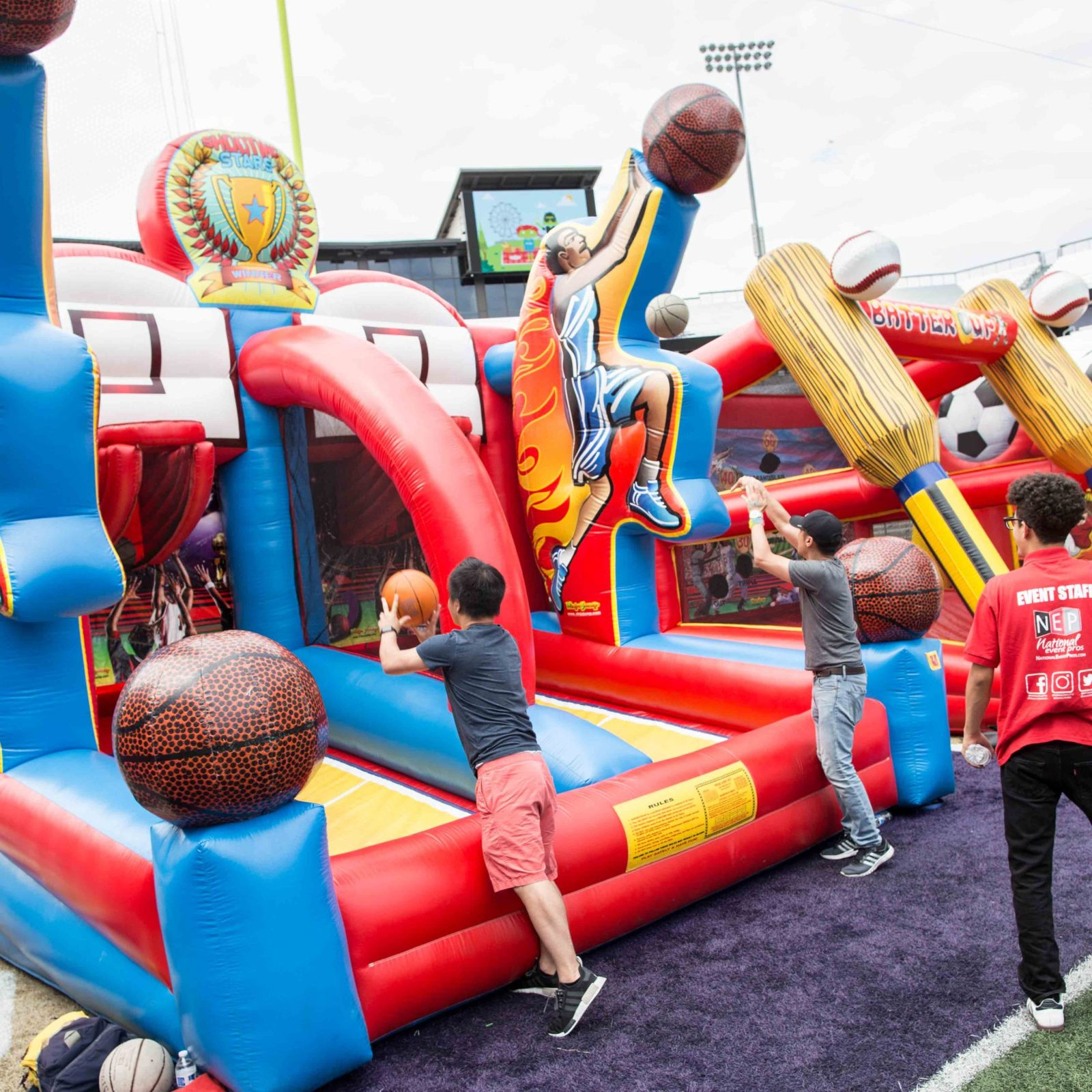 Shooting Stars Inflatable Basketball Hoop Game Rental