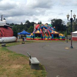23′ Circus City Triple Lane Slide w/ Bouncers