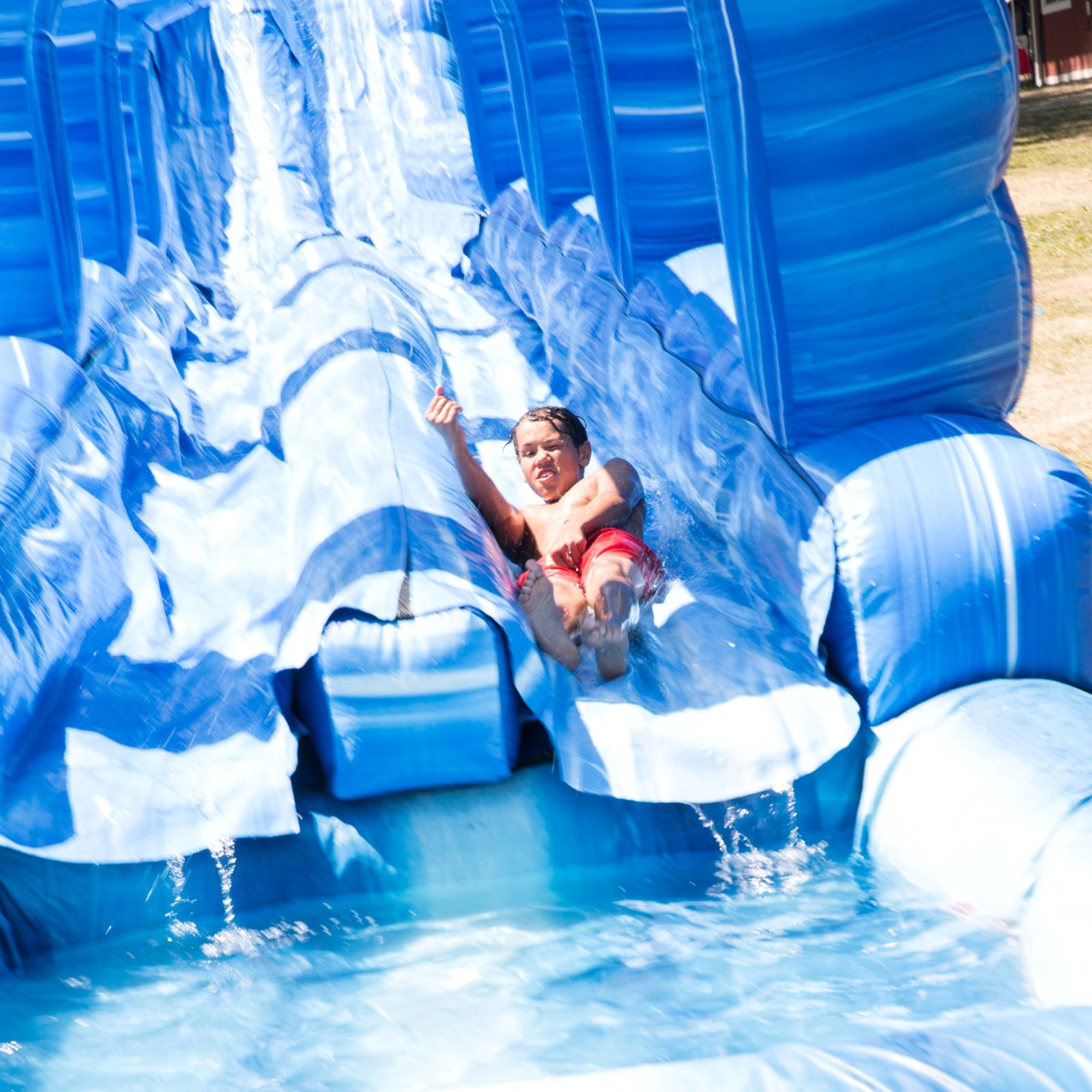 100′ Long Blue Crush Xtreme Water Slide