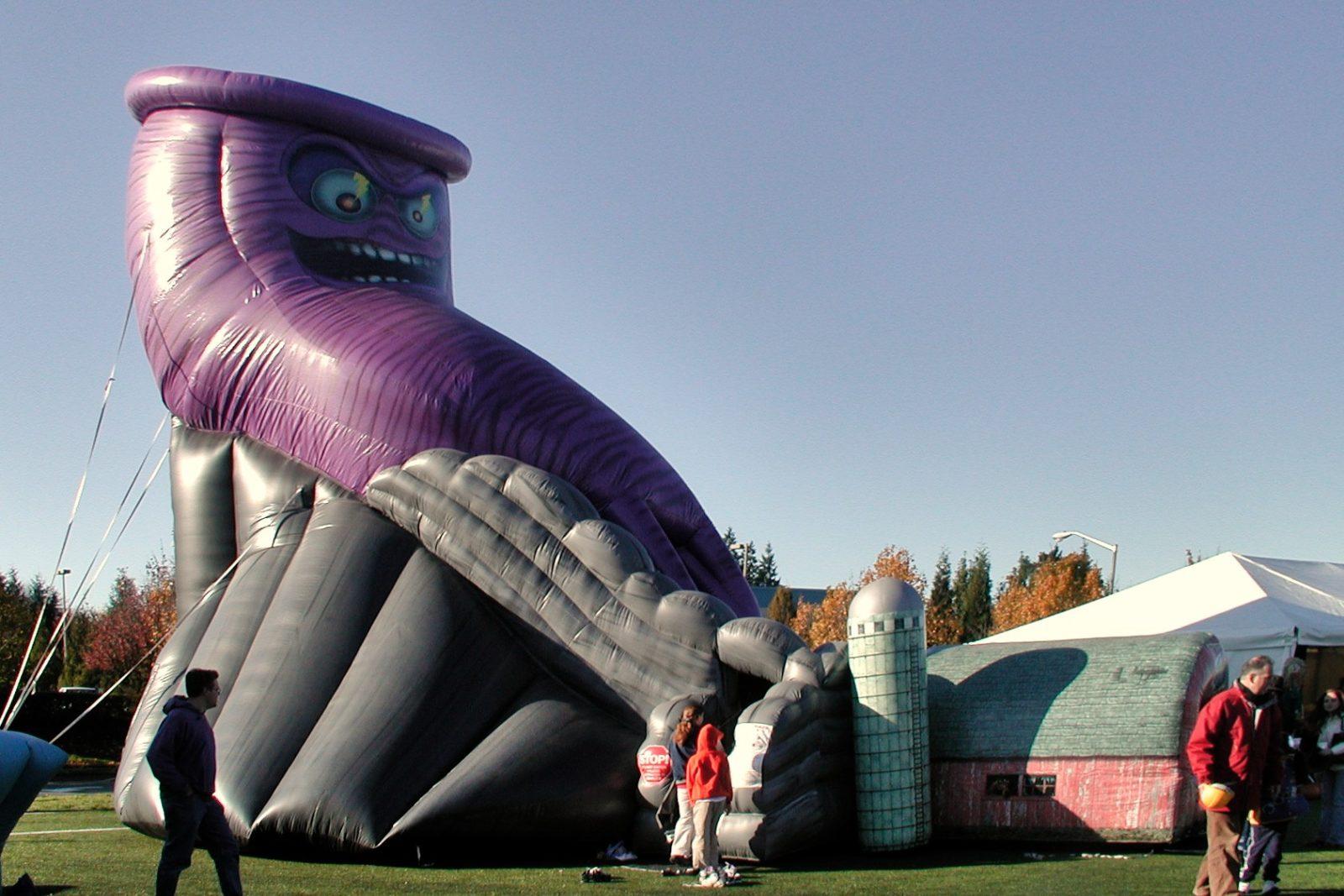 Twisted Twister tornado inflatable slide rental
