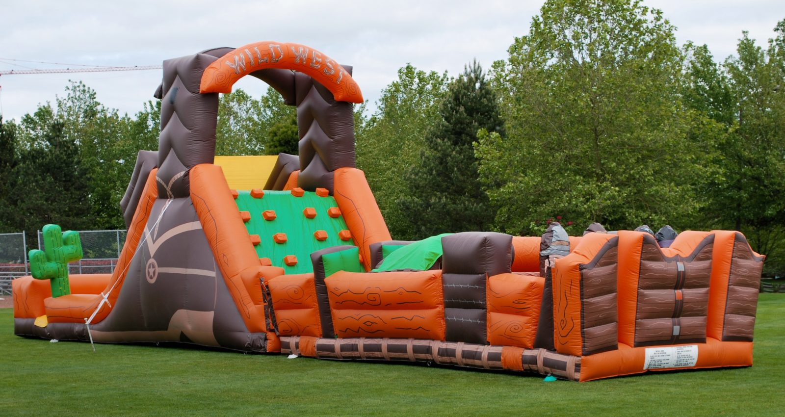 Wild West Inflatable Obstacle Course rental