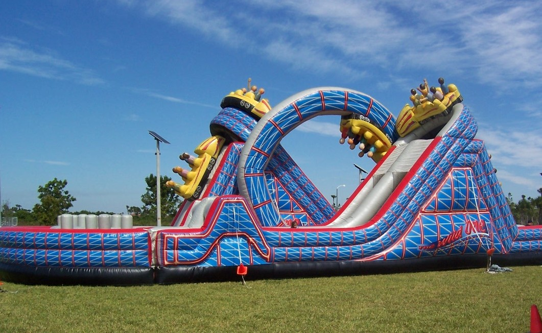 The Wild One Roller Coaster Inflatable Obstacle Course rental