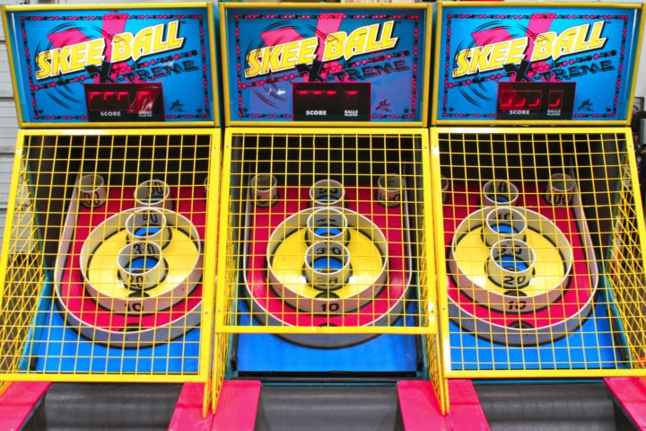 Skee Ball Arcade Game Rental National Event Pros