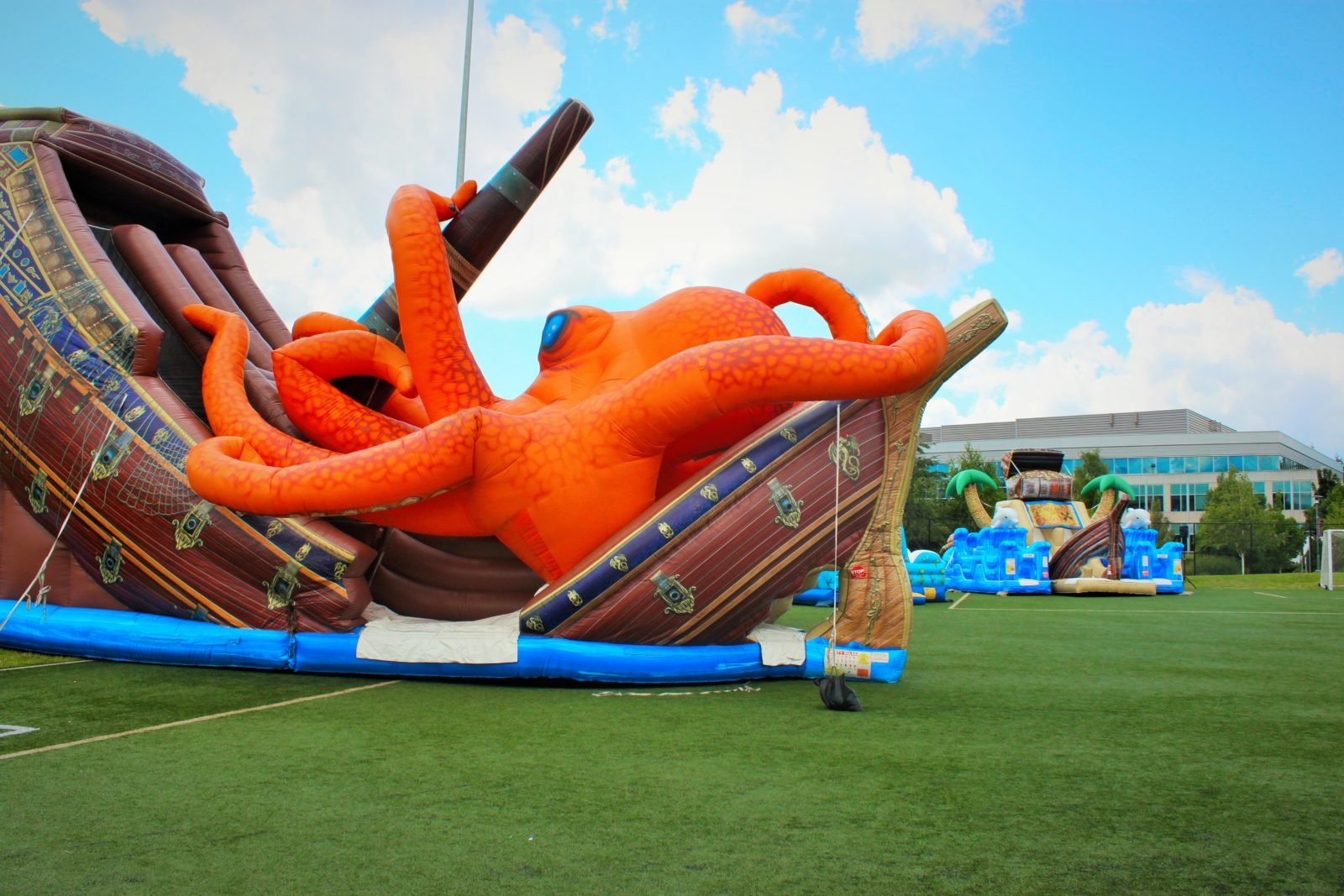 Kraken Sea Monster And Pirate Ship Inflatable Slide Rental
