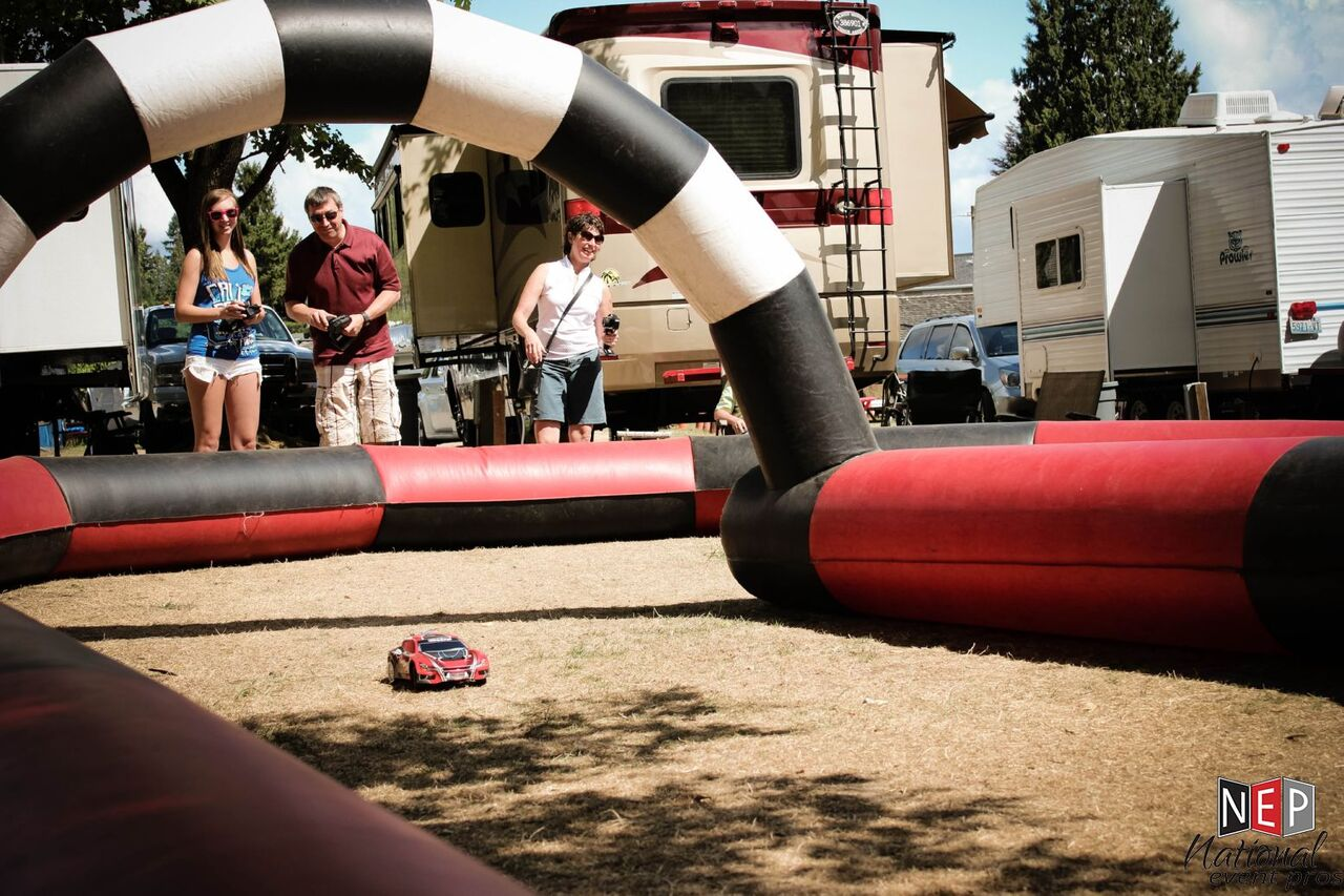 RC Car Racing on Inflatable Track rental