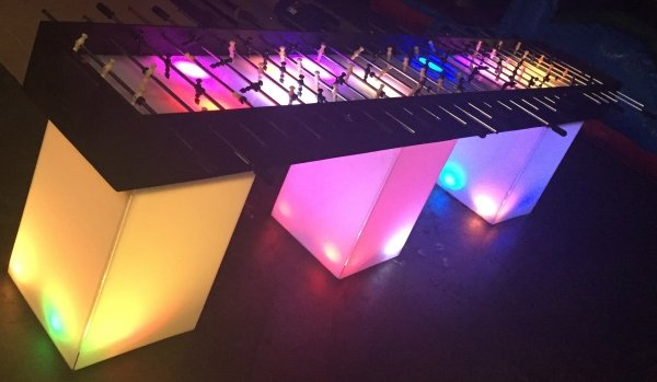 12-foot long LED foosball table rental