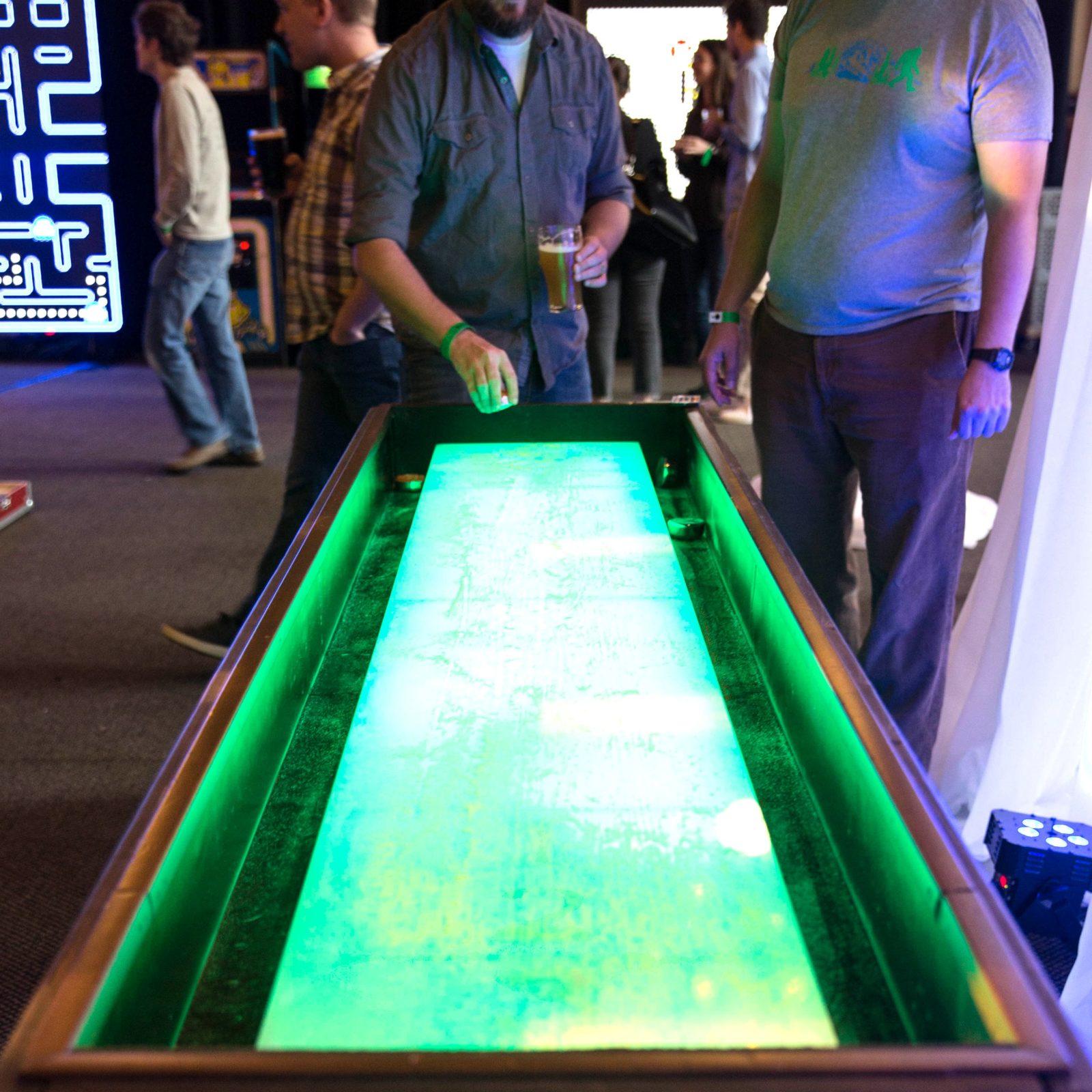 Com Rent: LED Glowing Shuffleboard Rental