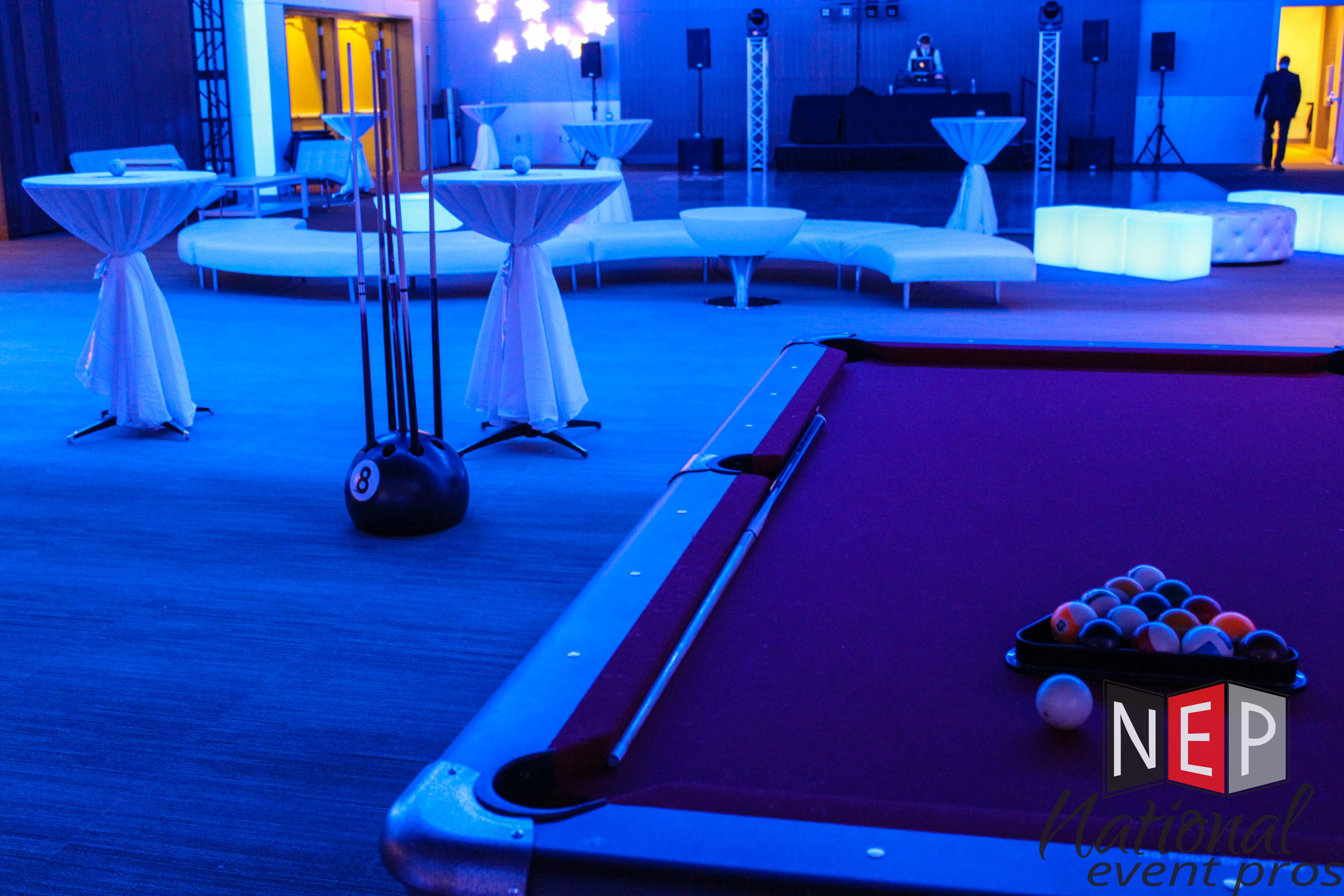 Pool Table Rental National Event Pros