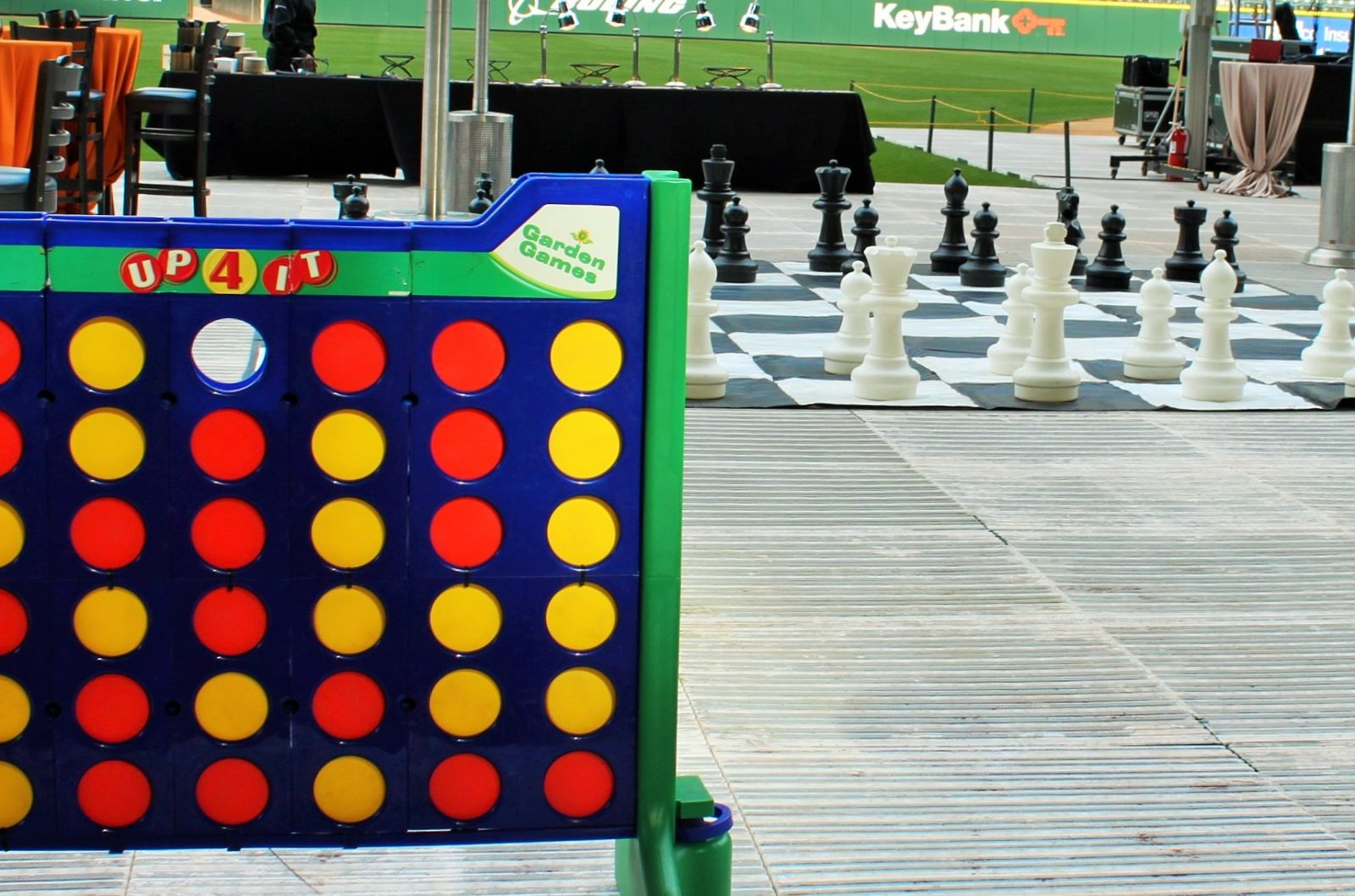 Giant Connect Four and Giant Chess yard game rental