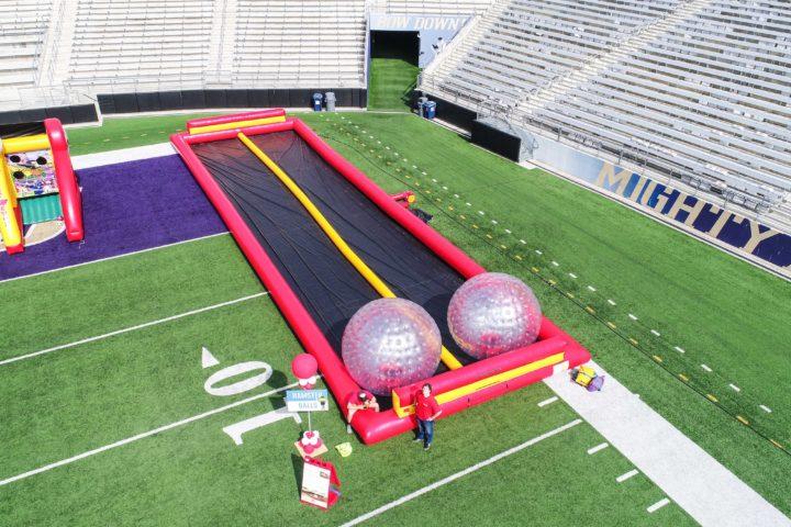 Human Hamster Ball Zorbing Track Rental National Event Pros
