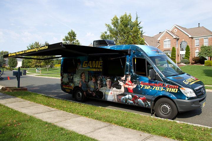 """Sprinter Van"" Video Game Theater"