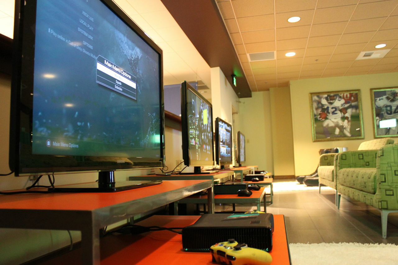 TV Screens with Gaming Equipment