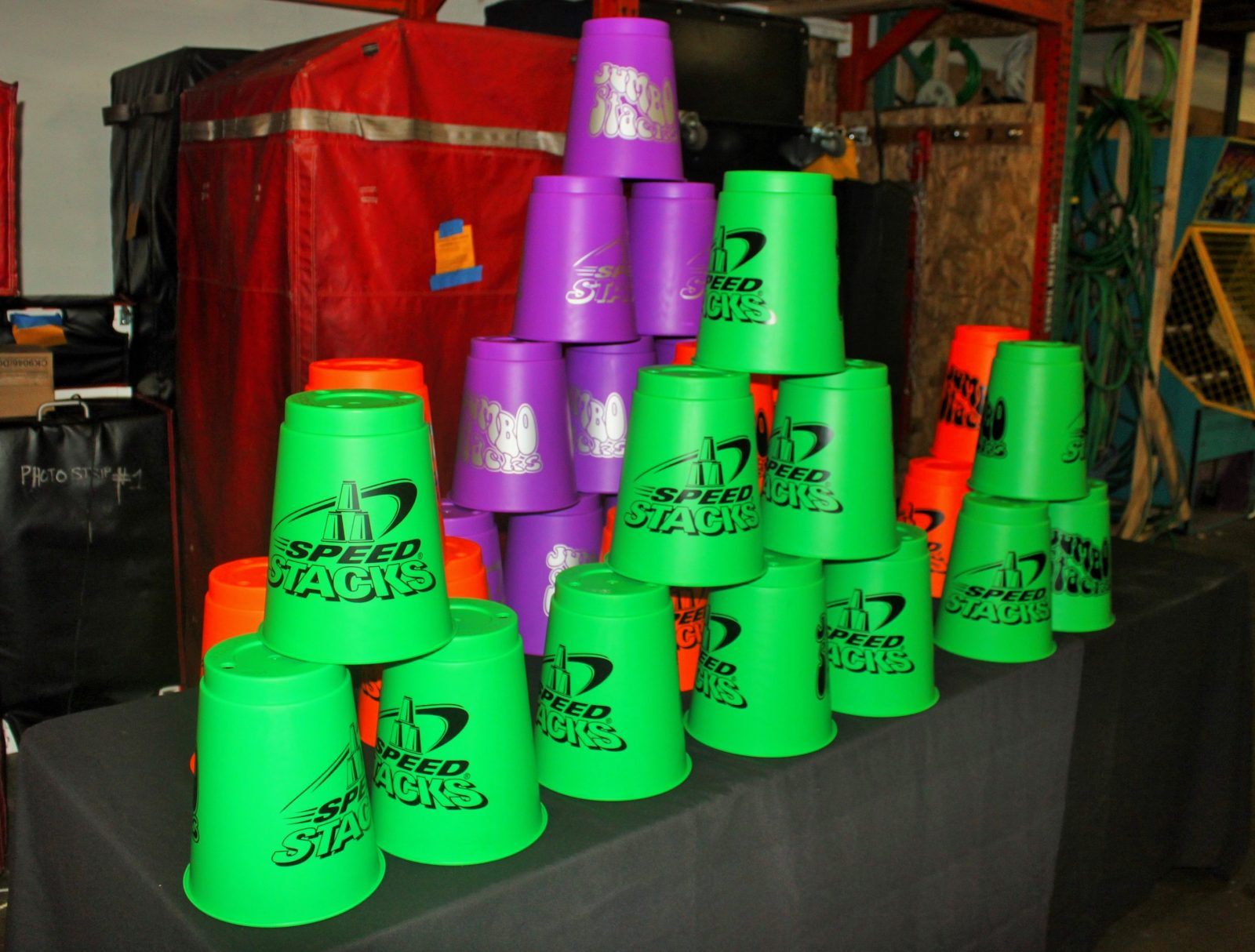 Giant Cup Stacking Challenge