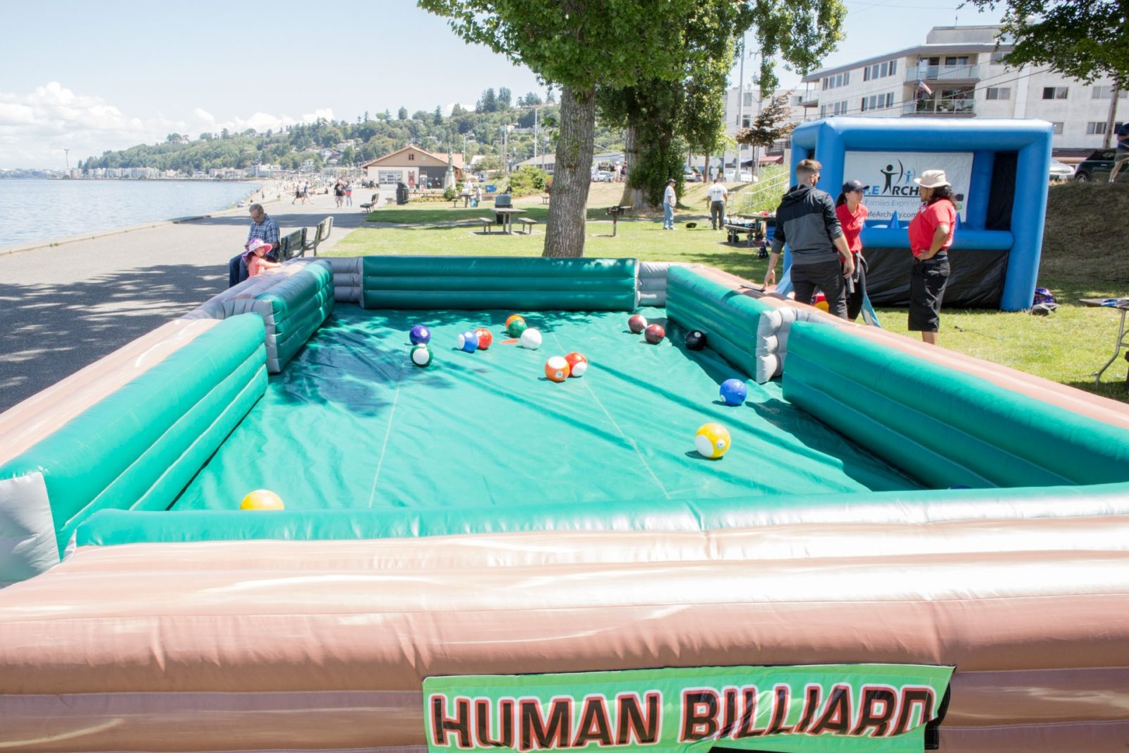 Giant Human Billiards Game Rental National Event Pros - Human pool table