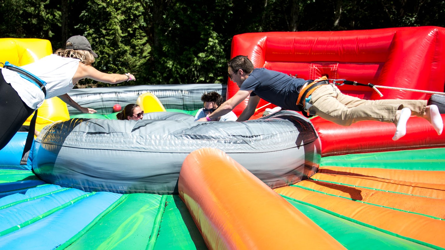 Giant Hungry Hungry Hippos inflatable game rental