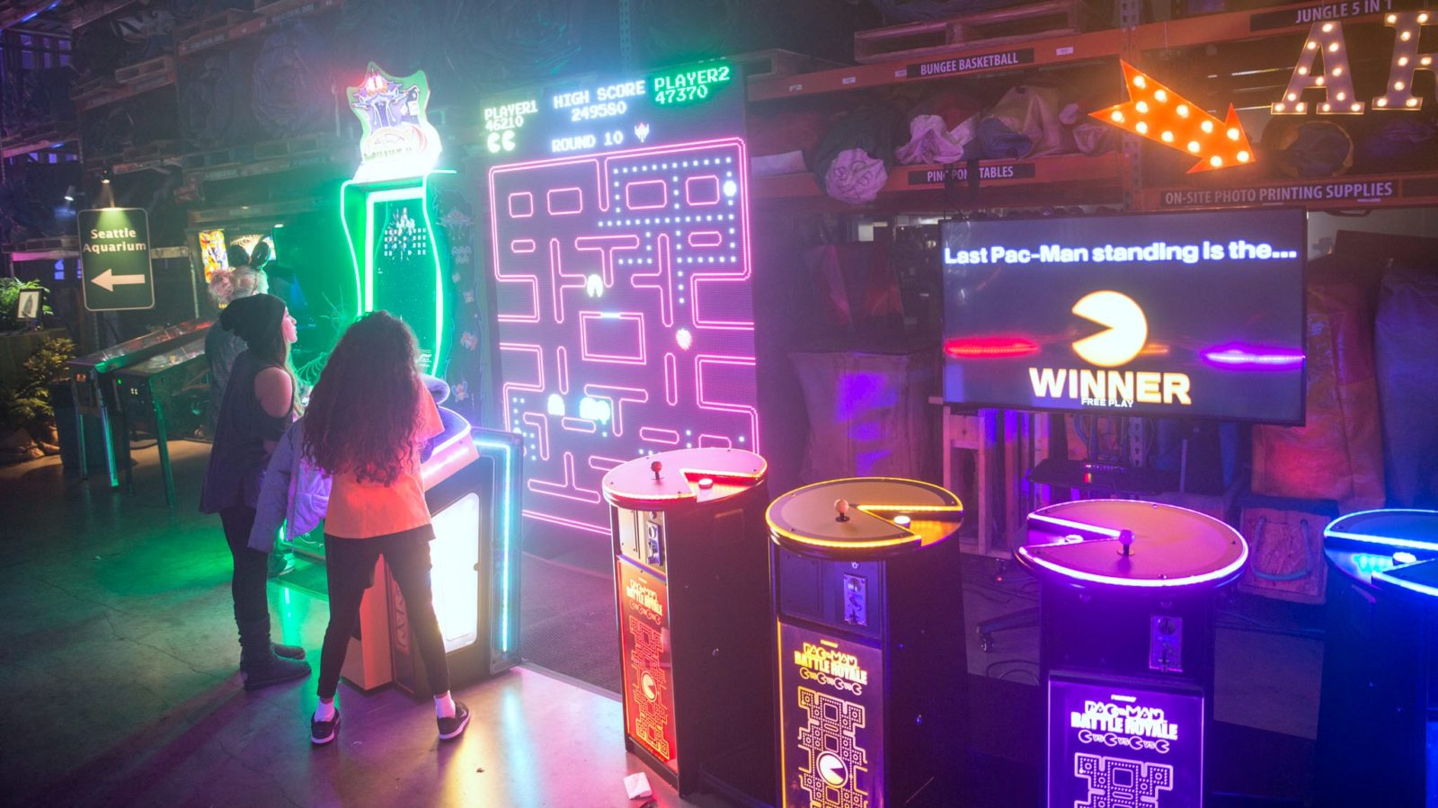 amazing arcade games at a company party