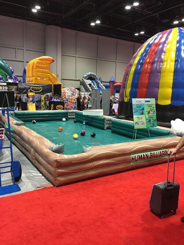 Human Billiards giant pool game rental