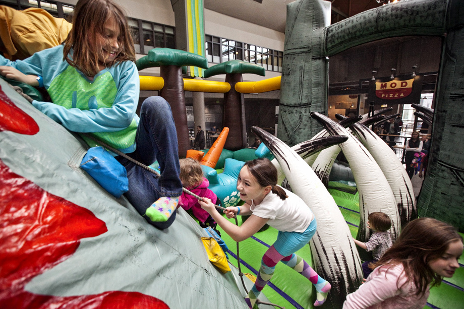 Kids on Jurassic Play Center, a Portland Bounce House Rental