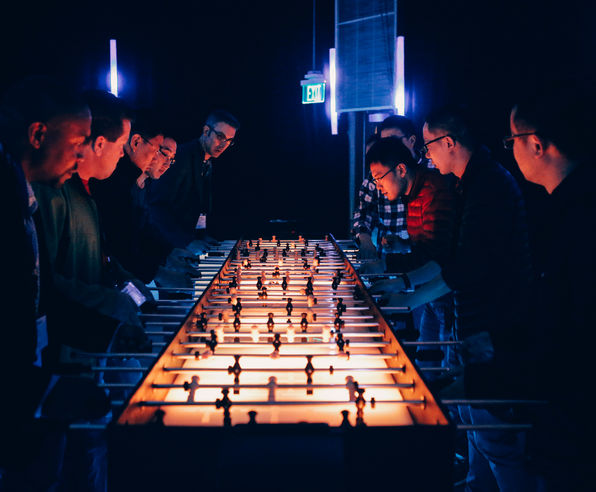 LED foosball rental