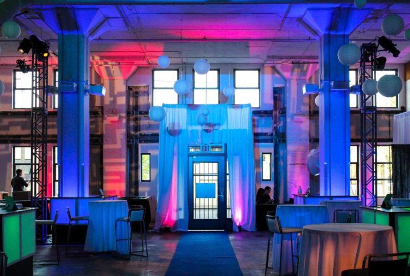 LEG glowing event venue decorations