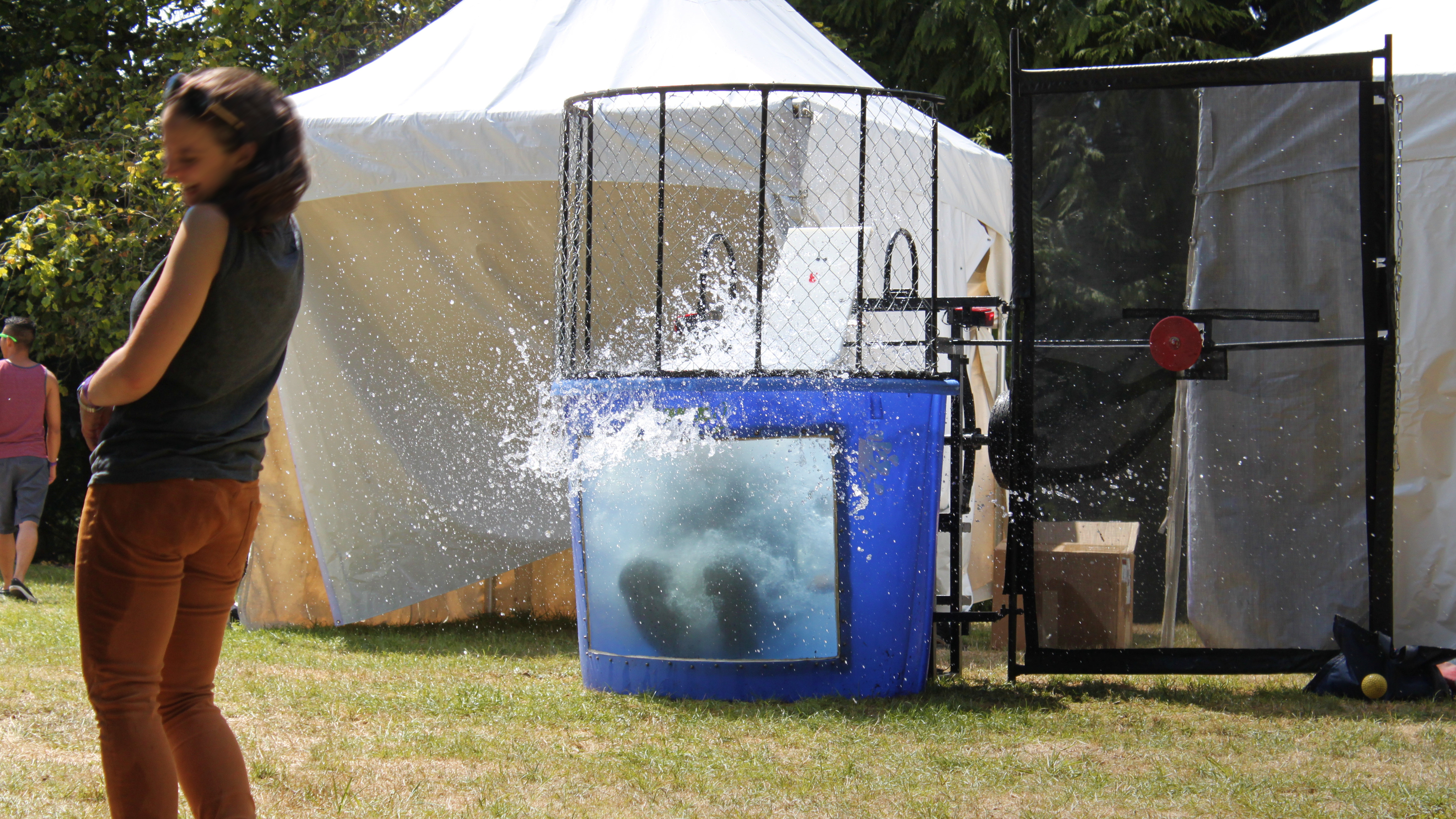 windowed dunk tank rental � national event pros