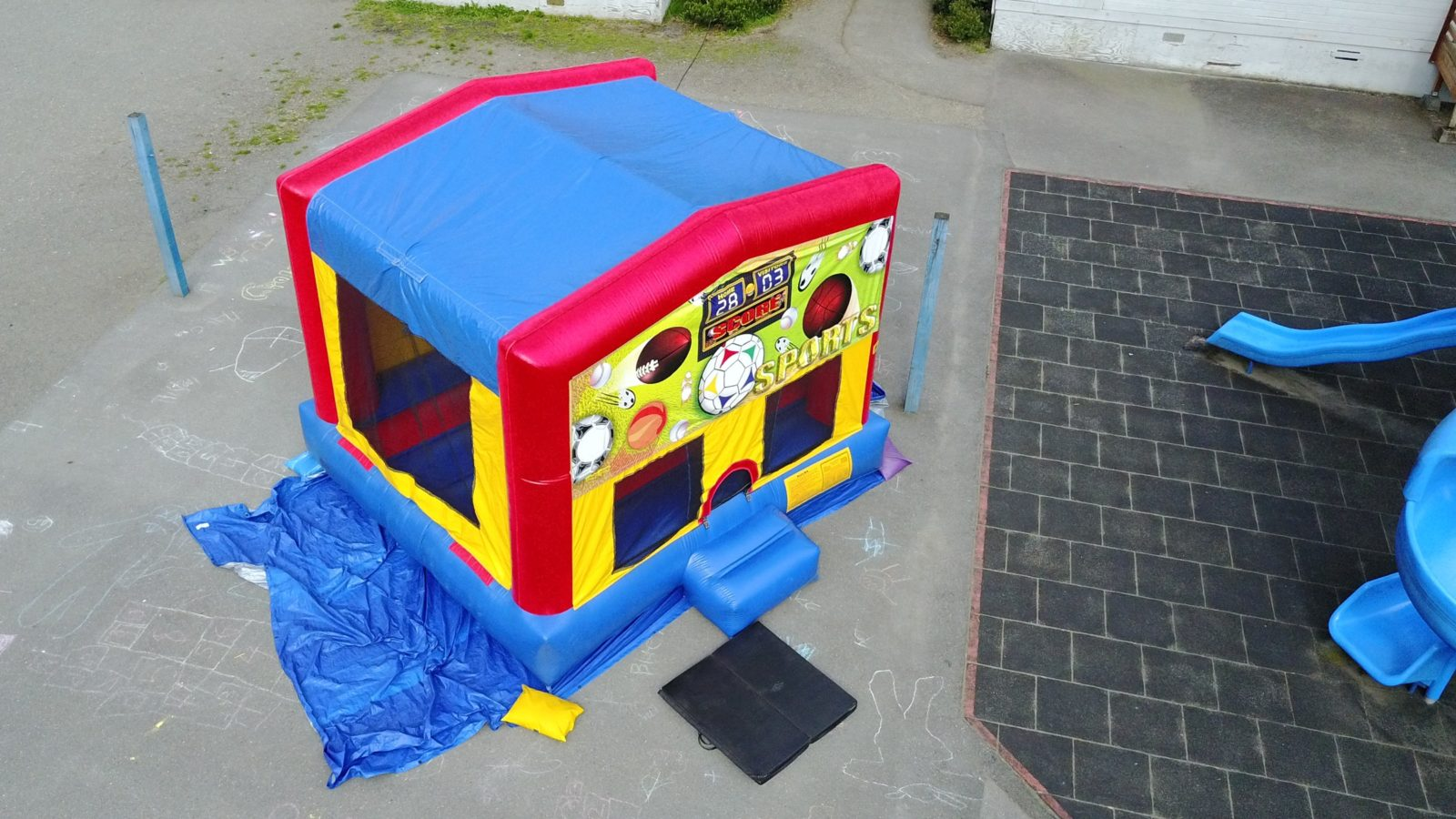custom banner bounce house rental