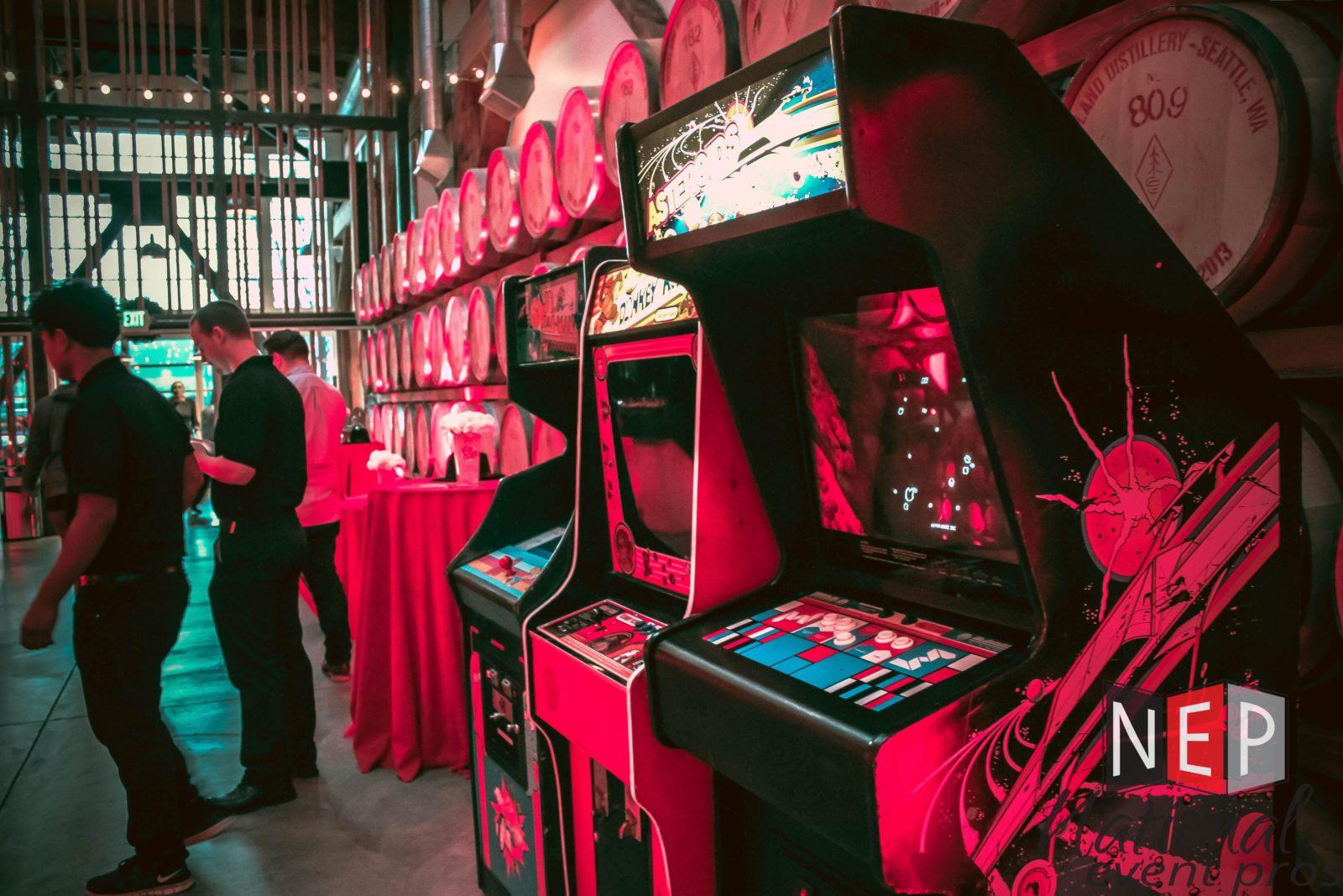 classic arcade game rental