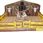 Mechanical Bull with Deluxe Western Corral