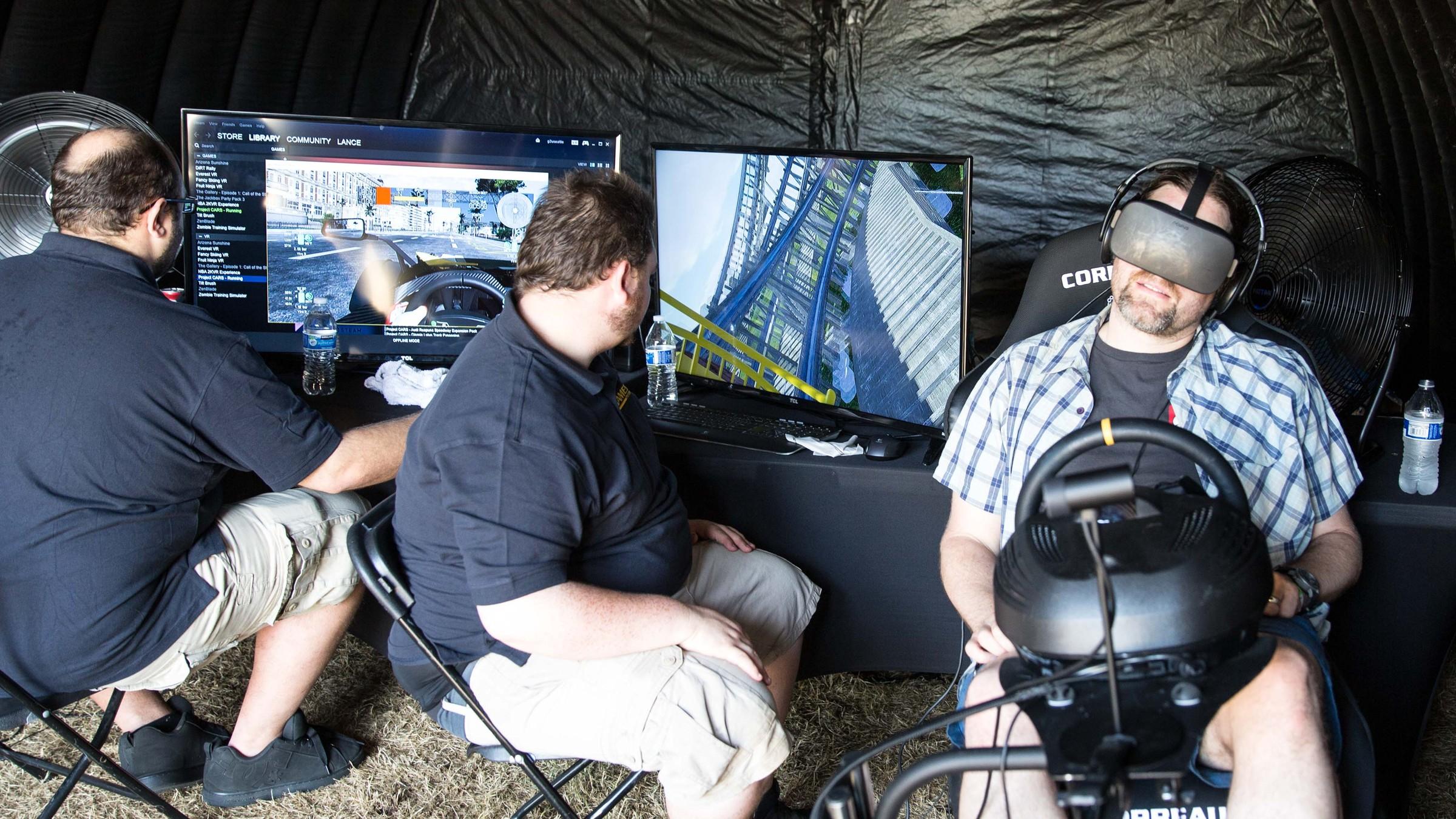 Oculus Virtual Reality Full-Motion Simulator Rental