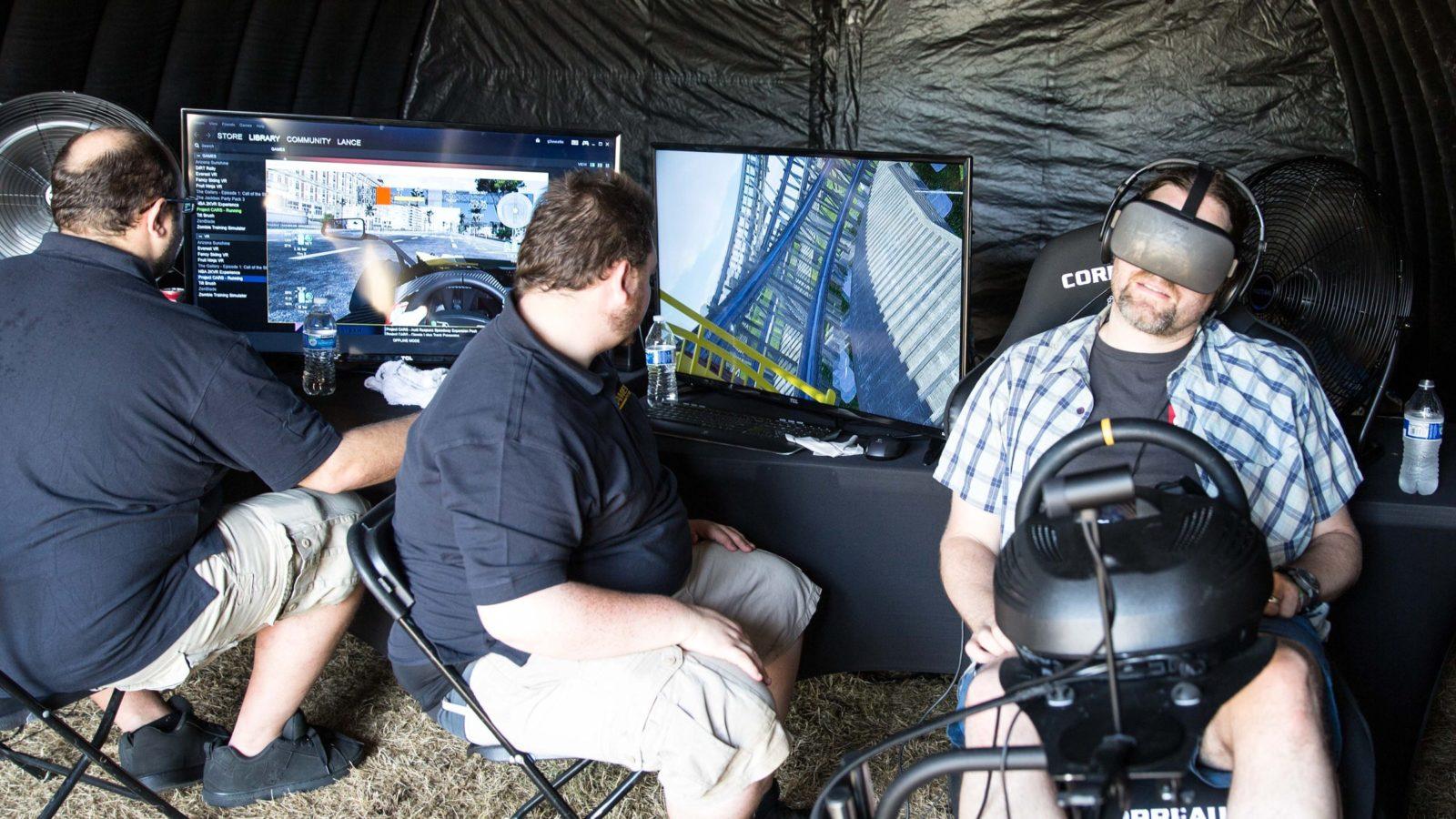 Oculus Virtual Reality Motion Simulators