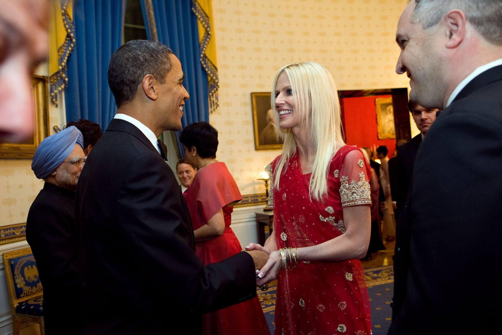 Michaele Salahi and Barack Obama at the 2009 White House State Dinner