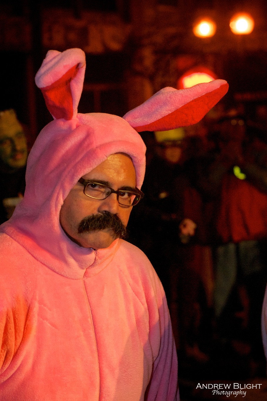 A Christmas Story pink bunny costume