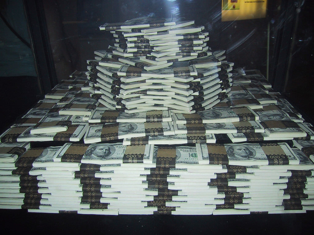 stacks of cash