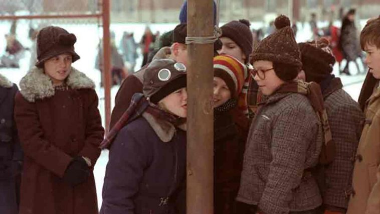 tongue frozen to pole in A Christmas Story