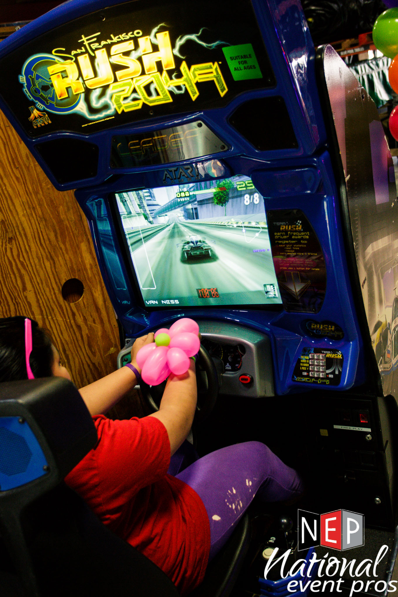san francisco rush 2049 arcade driving game rental national event pros. Black Bedroom Furniture Sets. Home Design Ideas