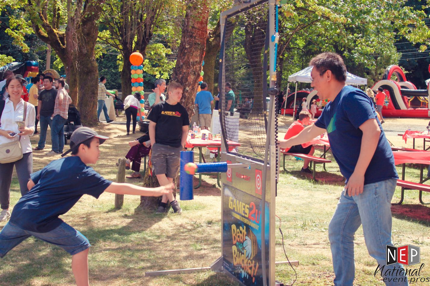 0fe78daec Want to level the playing field  Our Dunkee Dunkable party rental is the  only interactive water game that allows a fast-thinking player to control  their ...
