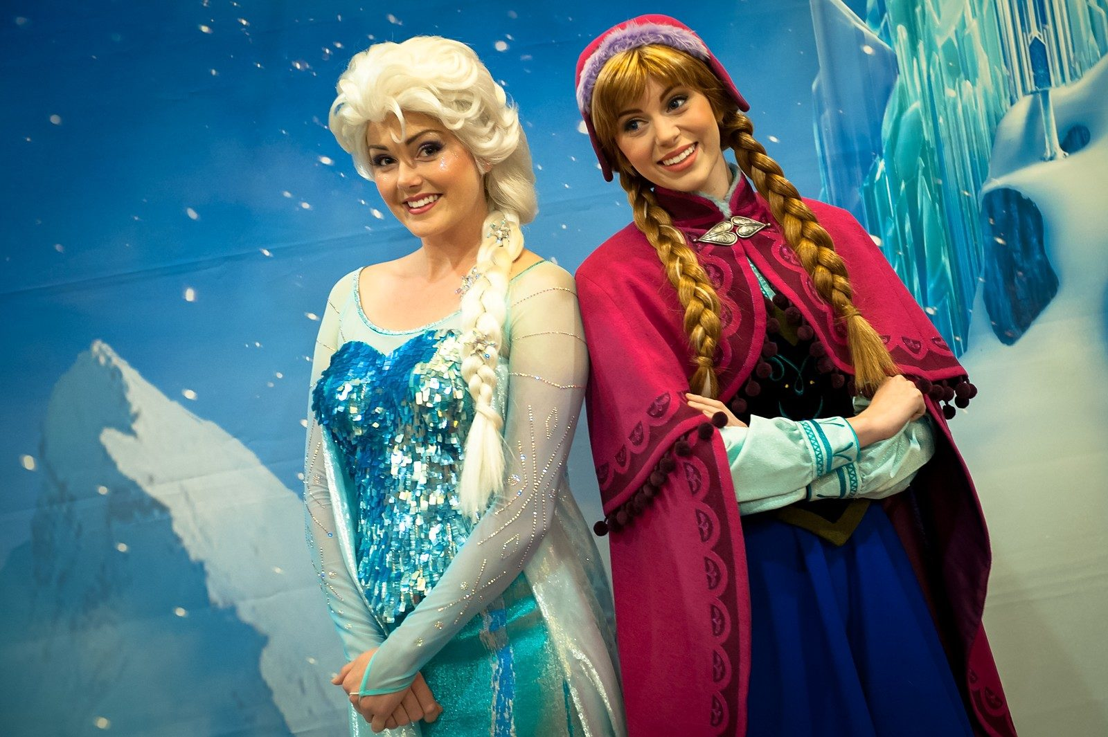 Elsa and Anna Disney Frozen character actresses