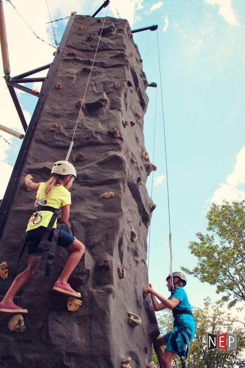 rock-climbing wall rental