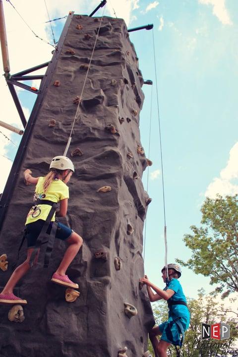 rock-climbing wall rental