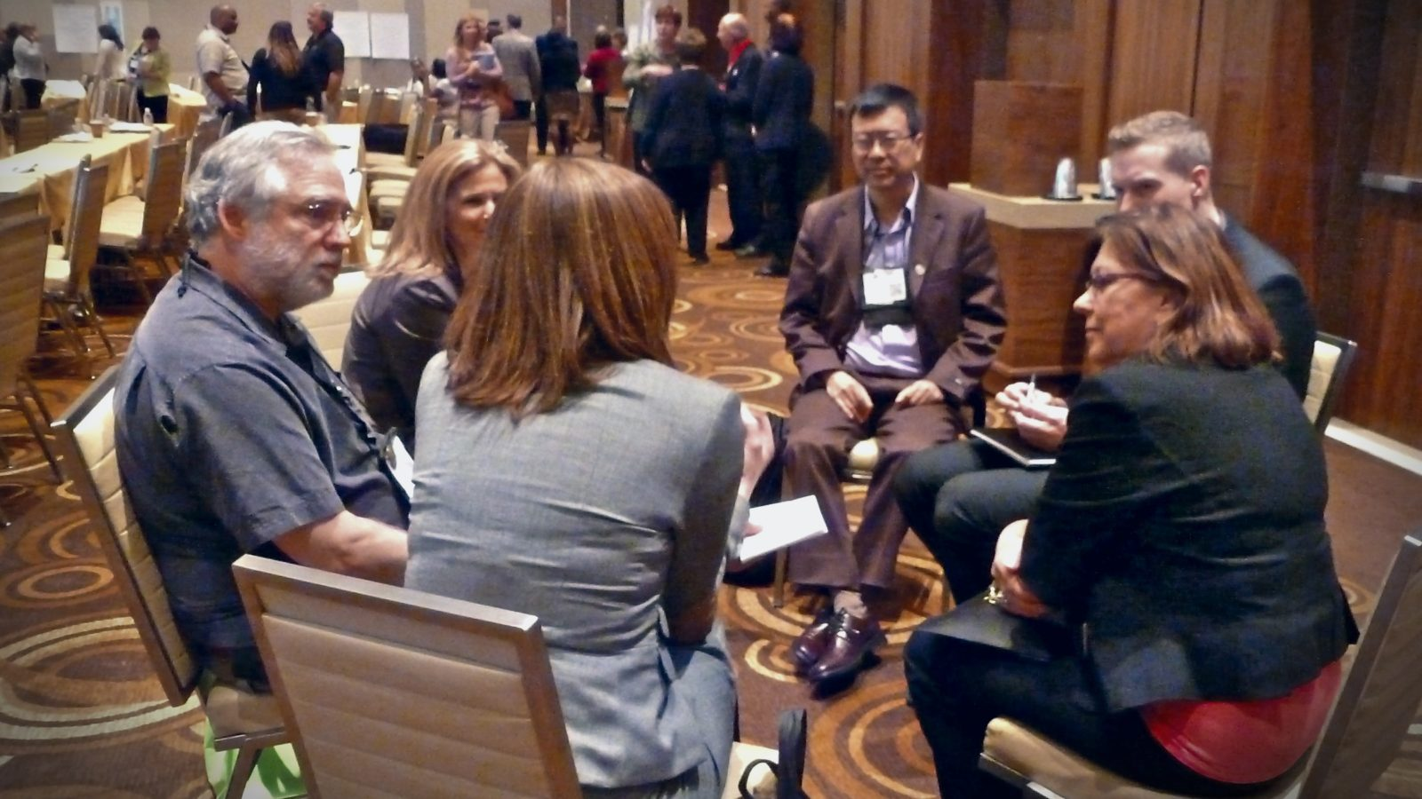 conference professional networking break-out group