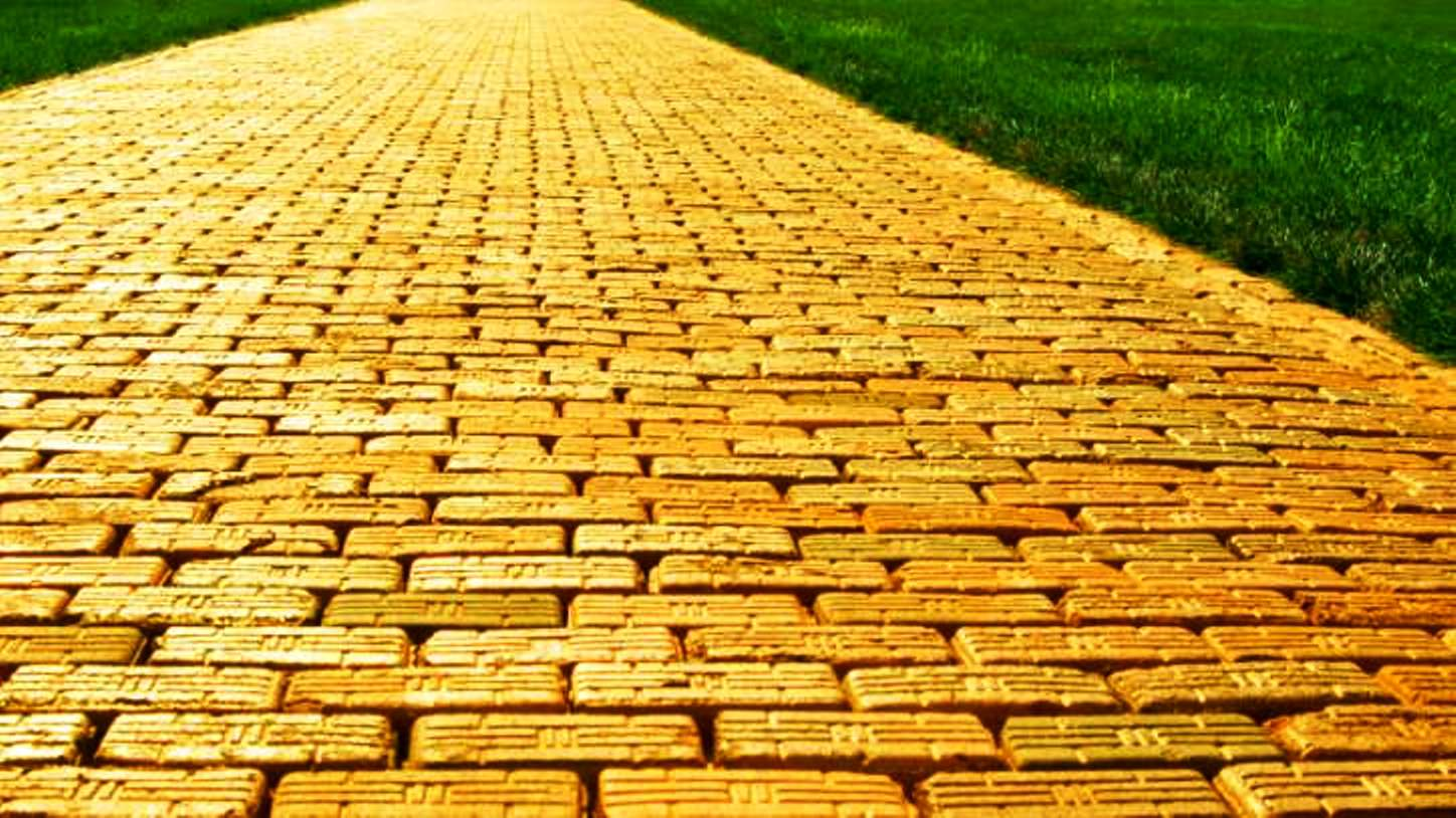 Yellow Brick Road in The Wizard of Oz