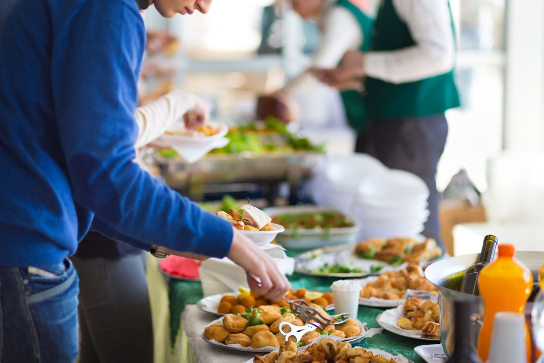 catered lunch at a conference