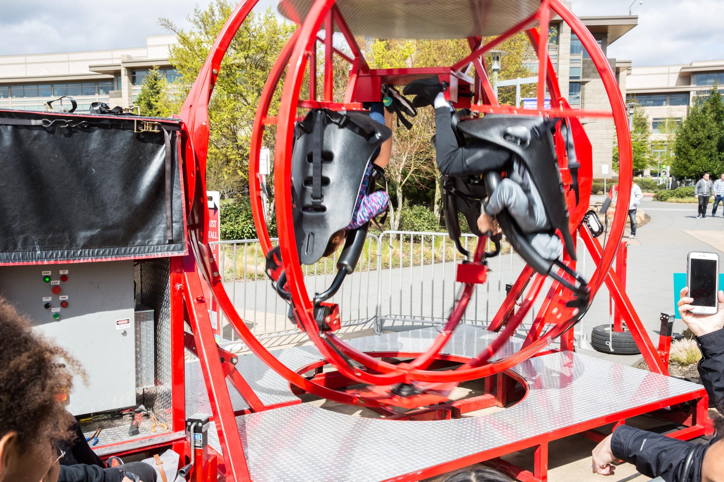 Gravitron Human Gyroscope 4 Seat Aerotrim Rental