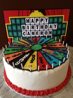 Wheel Of Fortune game show decorated cake