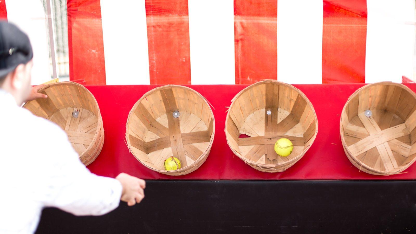 Basket Toss carnival game