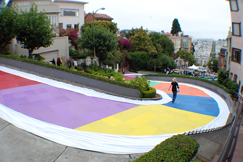 rainbow road Candy Land street decoration