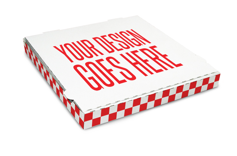 custom designed pizza box